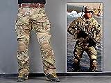Menschen Militär Paintball Kriegsspiel Hose Kampf Gen3 Taktisch Hose und Kniepolster (L (34))