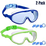 Yizerel 2 Pack Kids Swim Goggles, Swimming Glasses for Children and Early Teens from 3 to 15 Years...
