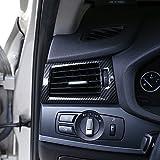 Estilo de fibra de carbono para X3 X4 F25 F26 2013 – 2017 Coche ABS cromado lateral salida de aire acondicionado cubierta accesorio para LHD