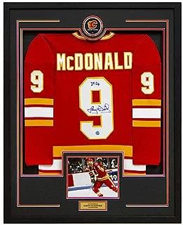 Lanny Mcdonald Calgary Flames Autographed Signed Memorabilia Retro 35X43 Framed Hockey Jersey