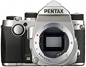 Pentax KP Silver Body 24.32 Ultra-Compact Weatherproof DSLR with 3