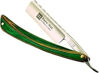 Healifty navaja de afeitar recta plegable de madera navaja