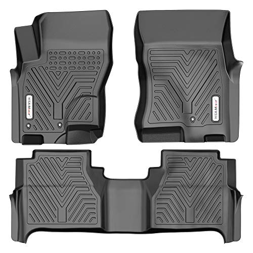 YITAMOTOR Floor Mats Compatible with 2008-2019 Nissan Frontier Crew Cab, Custom Fit Floor Liners, 1st & 2nd Row All-Weather Protection, Black