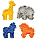 Mrs. Anderson's Baking Anderson's Animal Cracker Cookie Cutters, Set of 4, 4, Multicolor