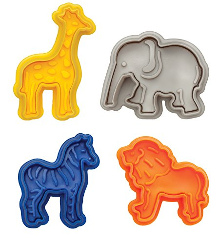 Mrs. Anderson's Baking Anderson's Animal Cracker Cookie Cutters, Set of 4,