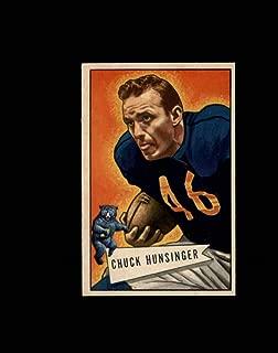 1952 Bowman Small Football #007 Chuck Hunsinger STARX 6.5 EX/MT+ CS52997