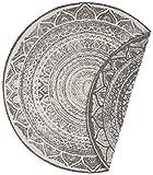 bougari Teppich Twin Supreme Siruma Rundteppich 200 cm Ø - Wendeteppich für In- & Outdoor (100%...
