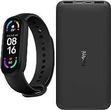 Xiaomi Mi Band 6 Smart Watch Bundled with Mi 10,000 mAh Portable Phone Charger, 3.7V Dual 2.6A Rapid Charging, USB-C Inpu...