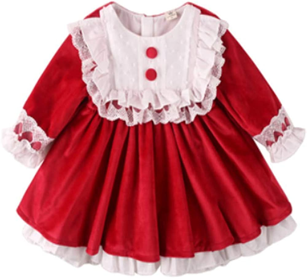 Palace Baby Girl Quantity limited Lace Velvet Dresses Embroidery Bir Milwaukee Mall First Lolita