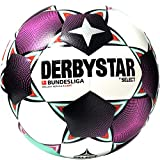 Derbystar Unisex Jugend Bundesliga Brillant Replica S-Light Fußball, Weiss Magenta Mint, 5