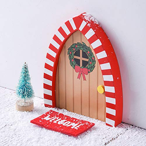 XiTonG Elf Magic Girl Elves Doors ,Pretend Playset Christmas Elves Decorations/Decorative The Santa's Elves Enchanted Door Outdoor Christmas Decor for Elf's Night Before Christmas,Magic Elf Door Kit
