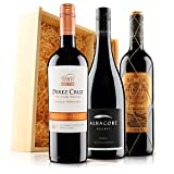 Blockbusting Red Wine Trio in Wooden Gift Box - 3 Bottles (