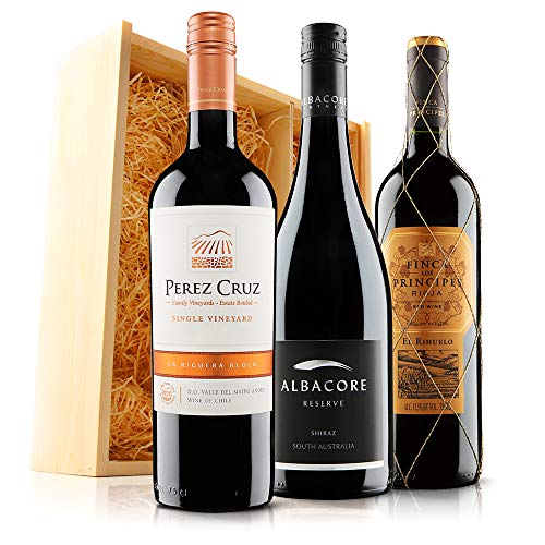 Blockbusting Red Wine Trio (3x75cl) in Wooden Gift Box - Sendagift by Virgin Wines