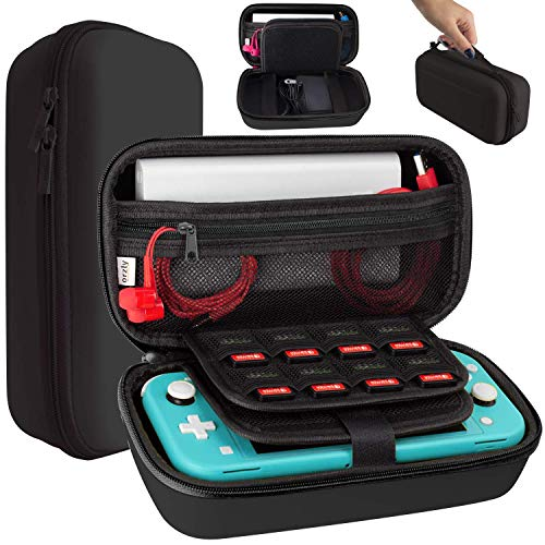 Orzly Case for Nintendo Switch Lite - Travel Carry Case for Switch Lite Console, Power Adapter, Games & Other Accessories [Black]