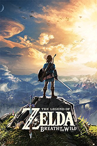 Nintendo The Legend of Zelda: Breath of The Wild Sunset 61 x 91.5 cm Maxi Poster, Multicolore