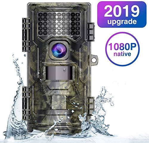 WiMiUS Cámara de Caza 20MP 1080P(30FPS), Camara Caza con 940nm Luz Invisible, Camara Caza Nocturna Velocidad de Disparo de 0.2s de hasta 70 Pies / 21m, Impermeable Ip54 para Vigilancia, Cazar