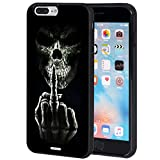 iPhone 7 Plus Case,iPhone 8 Plus Case,AIRWEE Slim Anti-Scratch Shockproof Silicone TPU Back Protective Cover Case for Apple iPhone 7 Plus/8 Plus 5.5',Skull