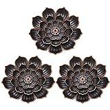 AUXSOUL 3 Piezas de Marco de Aromaterapia Lotus,Quemador de Incienso...