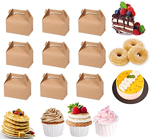 UPKOCH Cajas de papel de estraza para tartas, cupcakes, postres, frutas, aperitivos, 10 unidades