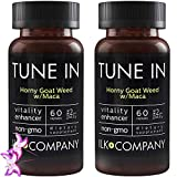 Horny Goat Weed with L-Arginine and Maca Root - Powerful Blend of Concentrated Ingredients - Non-GMO - 60 Capsules (2 Bottles)