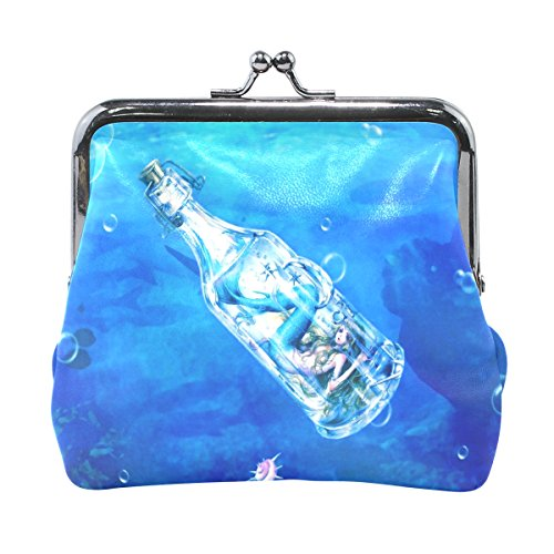 LIANCHENYI - Monedero con diseño de sirena bajo el agua en botella