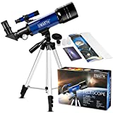 EMARTH Telescope for Kids Beginners Adult, 70mm Astronomical Refractor Telescope with Adjustable Tripod