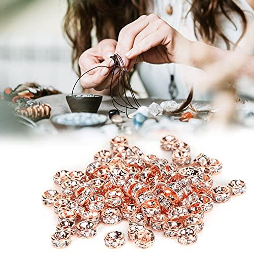 Cuentas espaciadoras de borde recto, accesorios para hacer joyas, cuentas espaciadoras, cuentas separadas de 5 mm para hacer joyas de bricolaje para pendientes