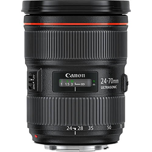 Canon Zoomobjektiv EF 24-70mm F2.8L II USM für EOS (82mm Filtergewinde), schwarz