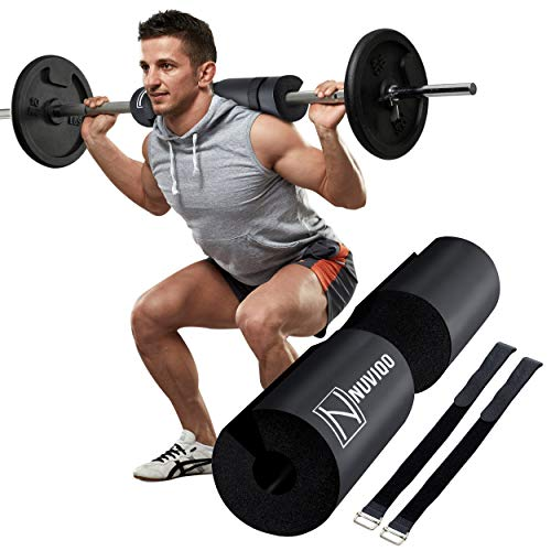 Barbell Pad Squat Pad for Lunges and Squats - Hip Thrust Pad for Standard and Olympic Bars - Provides Cushion to Neck and Shoulders While Training
