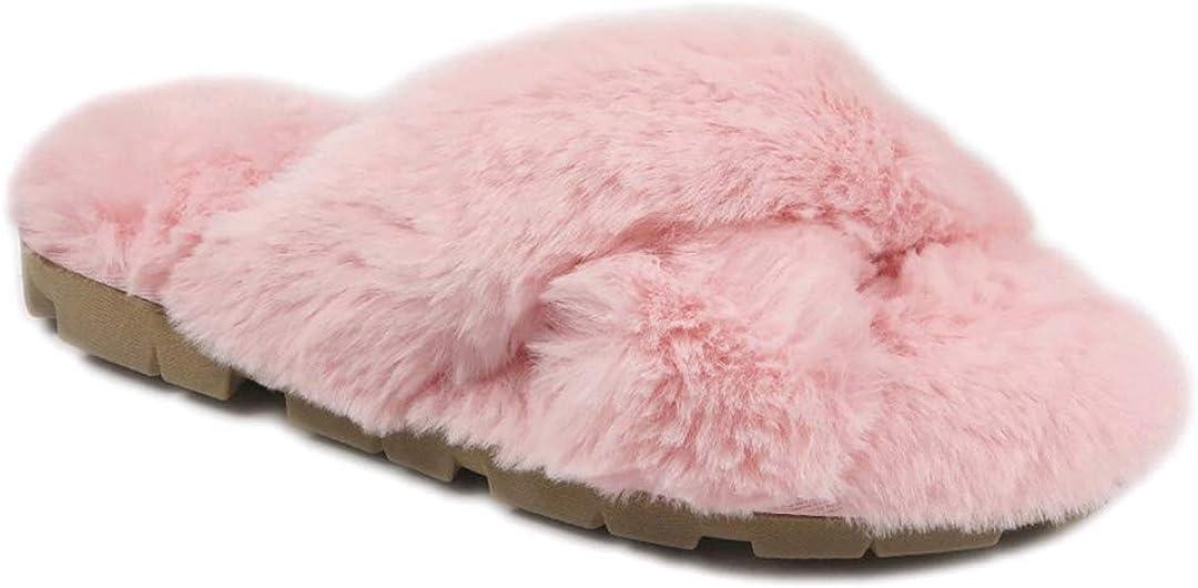Pink Lug Sole Slide Slippers