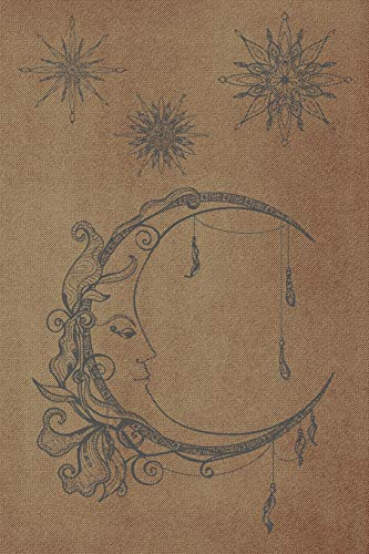Tarot journal: A daily reading tracker and notebook: Track your 3 card draw, question, interpretation, notes: Vintage style moon and stars cover design