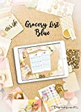 Digital Planner Grocery List Blue (GoodNotes): Plan your Day and reach your Goals (English...