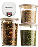 StorageMaid Automatic Vacuum Sealer Food Storage Containers, Set of 3 Containers For Vacuum Seal Food Storage Container With Lids