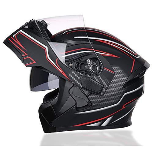 ACC Motorfiets voorkant flip-helm, volledige gezichtsvalhelm, off-road-motorhelm met dubbele zonneklep, anti-condens, winddicht