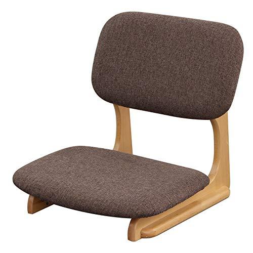Chaise Cadre en bois massif Chaise paresseuse Chaise de sol Pour Salon Chambre à coucher Balcon 52 x 52 x 53 CM (Couleur : Brown)
