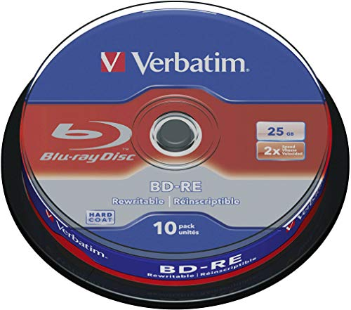 Verbatim BD-RE Single Layer 25 GB - Blu-Ray-Disk - 2-fache Brenngeschwindigkeit - Hardcoat Scratch Guard - Spindel - 10er Pack
