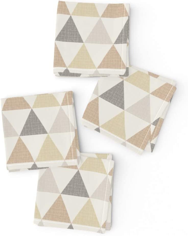 Roostery Tucson Mall Cloth Cocktail San Antonio Mall Napkins Triangles Light Brown Texture G