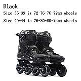 Pattini in linea Professionale for Adulti Roller Skating Scarpe 72-76-80mm Or 3 * 110 Millimetri Slalom velocità Patines Libero di Pattinaggio Corsa Pattini