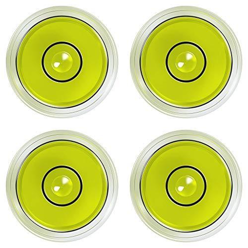 Mini-Wasserwaage, kleine Libelle, Dosenlibelle für Foto, Waage, Kamera, Camping, Caravan | 4 Stück, Ø = 15mm