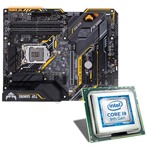 Intel Core i9-9900K / ASUS TUF Z390-PLUS Gaming Mainboard Bundle | CSL PC Aufrüstkit | Intel Core i9-9900K 8X 3600 MHz, Intel UHD Graphics 630, GigLAN, 7.1 Sound, USB 3.1 | Aufrüstset | PC Tuning Kit