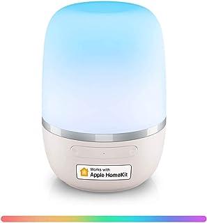 چراغ میز هوشمند ، چراغ محیطی WiFi Meross Dimmable ، با HomeKit (iOS13) ، الکسا و دستیار Google ، چراغ شبانه سفید و چند رنگ قابل تنظیم ، کنترل صدا ، کنترل برنامه ، برنامه کار می کند