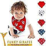 Piratas - Juego de 5 bandanas baberos por Funky Giraffe