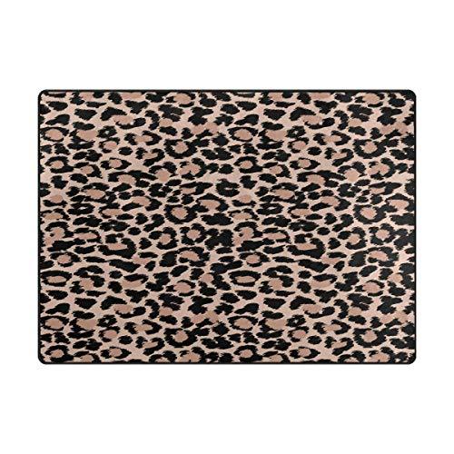 AHOMY Teppich mit Leopardenmuster, 150 x 200 cm, rutschfest, für Wohnzimmer, Baby, Haustierzimmer, Schlafzimmer, Esszimmer, Küche, Textil, multi, 120x160 cm(5'x4' ft)