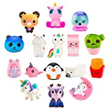 BeYumi Slow Rising Toy, Unicorn, Panda, Deer, Cat Toy, Kawaii Jumbo 10 Pcs Cream Scented Simulation Cute Animal & Food Squeeze Toys for Collection Gift, Decorative Props Large or Stress Relief