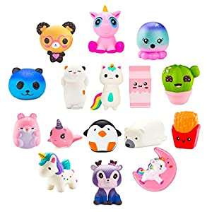 BeYumi Slow Rising Toy, Unicorn, Panda, Deer, Cat Squishy Toy, Kawaii Jumbo 10 Pcs Cream Scented Simulation Cute Animal & Food Squeeze Toys for Collection Gift, Decorative props Large or Stress Relief 5