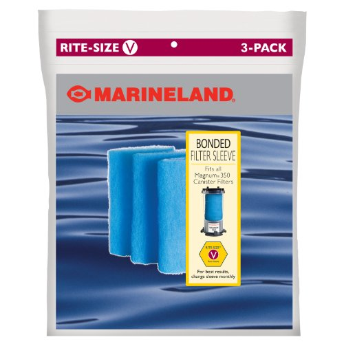 Marineland PA0114-03 Bonded Filter Sleeve for Magnum 350 Canister Filter, 3-Count