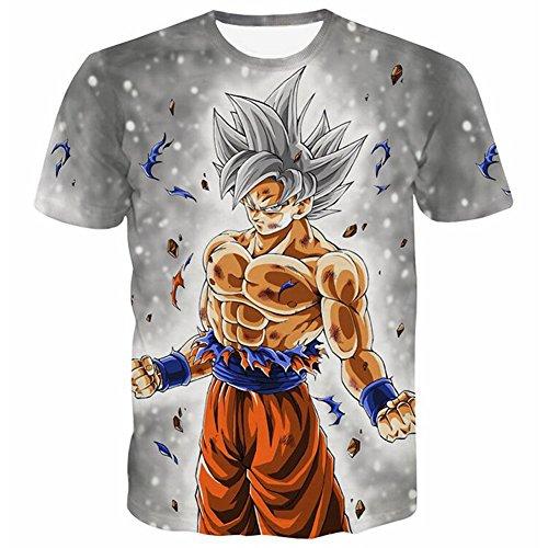 PIZZ ANNU Dragon Ball Series Camiseta Hombre 3D Dragon Ball impresión