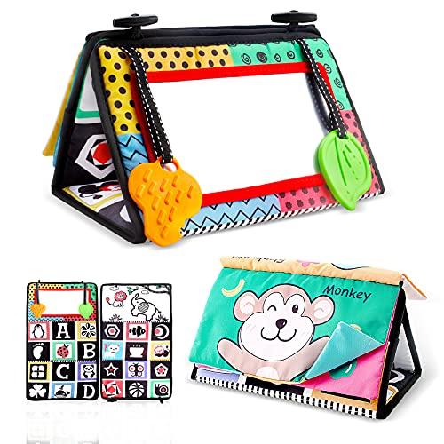 Yojoloin Espejo Bebe Juguete con Tela Libro Espejo Montessori Juguete Blanco y Negro Bebe 0 3 6 9 12 Meses