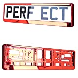 TAPORT Car Registration License Number Plate Surrounds Holder Frame All Styles (Red)