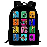 496 Rat-chet and Cl-ANK Backpack Travel Laptop Business Light School Durable Campus Large Space Sport Sports Outdoors Waterproof Black